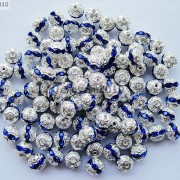 100pcs-Czech-Crystal-Rhinestones-Pave-Diamante-Round-Spacer-Beads-6mm-8mm-10mm-251087497248-9ea8