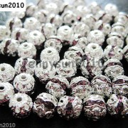 100pcs-Czech-Crystal-Rhinestones-Pave-Diamante-Round-Spacer-Beads-6mm-8mm-10mm-251087497248-a983
