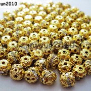 100pcs-Czech-Crystal-Rhinestones-Pave-Diamante-Round-Spacer-Beads-6mm-8mm-10mm-251087497248-aa97
