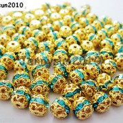 100pcs-Czech-Crystal-Rhinestones-Pave-Diamante-Round-Spacer-Beads-6mm-8mm-10mm-251087497248-da23