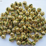 100pcs-Czech-Crystal-Rhinestones-Pave-Diamante-Round-Spacer-Beads-6mm-8mm-10mm-251087497248-db6d