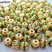 100pcs-Czech-Crystal-Rhinestones-Pave-Diamante-Round-Spacer-Beads-6mm-8mm-10mm-251087497248-fba3