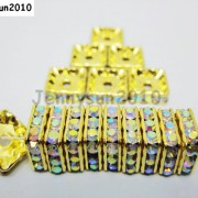 100pcs-Czech-Crystal-Rhinestones-Squaredelle-Spacer-Beads-5mm-6mm-8mm-10mm-Pick-251083654353-adf1