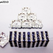 100pcs-Czech-Crystal-Rhinestones-Squaredelle-Spacer-Beads-5mm-6mm-8mm-10mm-Pick-251083654353-b4f4