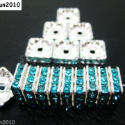 100pcs-Czech-Crystal-Rhinestones-Squaredelle-Spacer-Beads-5mm-6mm-8mm-10mm-Pick-251083654353-de4e