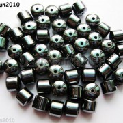 100pcs-Natural-Black-Jet-Hematite-Gemstones-Drum-Spacer-Beads-3mm-4mm-6mm-8mm-261042697548