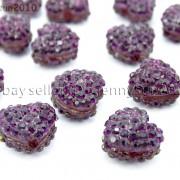 10Pcs-Crystal-Glass-Rhinestones-Pave-Flat-Heart-Bracelet-Connector-Charm-Beads-370920716184-1263