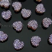 10Pcs-Crystal-Glass-Rhinestones-Pave-Flat-Heart-Bracelet-Connector-Charm-Beads-370920716184-3f3d