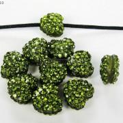 10Pcs-Crystal-Glass-Rhinestones-Pave-Flat-Heart-Bracelet-Connector-Charm-Beads-370920716184-46ef