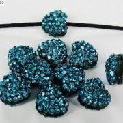 10Pcs-Crystal-Glass-Rhinestones-Pave-Flat-Heart-Bracelet-Connector-Charm-Beads-370920716184-88eb