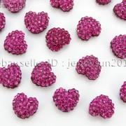 10Pcs-Crystal-Glass-Rhinestones-Pave-Flat-Heart-Bracelet-Connector-Charm-Beads-370920716184-a67f