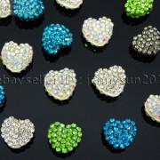 10Pcs-Crystal-Glass-Rhinestones-Pave-Flat-Heart-Bracelet-Connector-Charm-Beads-370920716184-b940