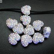 10Pcs-Crystal-Glass-Rhinestones-Pave-Flat-Heart-Bracelet-Connector-Charm-Beads-370920716184-c609