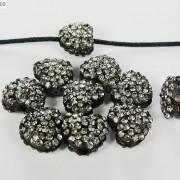 10Pcs-Crystal-Glass-Rhinestones-Pave-Flat-Heart-Bracelet-Connector-Charm-Beads-370920716184-c734