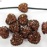 10Pcs-Crystal-Glass-Rhinestones-Pave-Flat-Heart-Bracelet-Connector-Charm-Beads-370920716184-dc0c