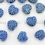 10Pcs-Crystal-Glass-Rhinestones-Pave-Flat-Heart-Bracelet-Connector-Charm-Beads-370920716184-f3b9