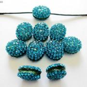 10Pcs-Crystal-Glass-Rhinestones-Pave-Oval-Bracelet-Connector-Charm-Beads-12x14mm-261302136914-01b5