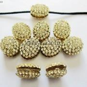 10Pcs-Crystal-Glass-Rhinestones-Pave-Oval-Bracelet-Connector-Charm-Beads-12x14mm-261302136914-037f