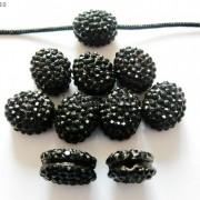 10Pcs-Crystal-Glass-Rhinestones-Pave-Oval-Bracelet-Connector-Charm-Beads-12x14mm-261302136914-1c40