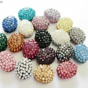10Pcs-Crystal-Glass-Rhinestones-Pave-Oval-Bracelet-Connector-Charm-Beads-12x14mm-261302136914-2