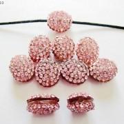 10Pcs-Crystal-Glass-Rhinestones-Pave-Oval-Bracelet-Connector-Charm-Beads-12x14mm-261302136914-230f