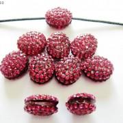 10Pcs-Crystal-Glass-Rhinestones-Pave-Oval-Bracelet-Connector-Charm-Beads-12x14mm-261302136914-434f