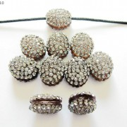 10Pcs-Crystal-Glass-Rhinestones-Pave-Oval-Bracelet-Connector-Charm-Beads-12x14mm-261302136914-4e83