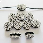 10Pcs-Crystal-Glass-Rhinestones-Pave-Oval-Bracelet-Connector-Charm-Beads-12x14mm-261302136914-895f