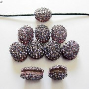 10Pcs-Crystal-Glass-Rhinestones-Pave-Oval-Bracelet-Connector-Charm-Beads-12x14mm-261302136914-c16a