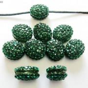 10Pcs-Crystal-Glass-Rhinestones-Pave-Oval-Bracelet-Connector-Charm-Beads-12x14mm-261302136914-f190