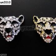 10Pcs-Crystal-Rhinestone-Big-Leopard-Head-Bracelet-Connector-Charm-Beads-371364227966