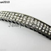 10Pcs-Curved-3-Row-Crystal-Rhinestones-Bar-Bracelet-Connector-Charm-Beads-370817605316-451e