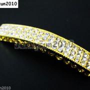 10Pcs-Curved-3-Row-Crystal-Rhinestones-Bar-Bracelet-Connector-Charm-Beads-370817605316-f069
