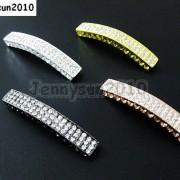 10Pcs-Curved-3-Row-Crystal-Rhinestones-Bar-Bracelet-Connector-Charm-Beads-370817605316-ff99