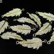 10Pcs-Curved-Side-Ways-Crystal-Rhinestones-Leaf-Bracelet-Connector-Charm-Beads-281199570414-2443