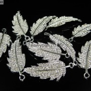 10Pcs-Curved-Side-Ways-Crystal-Rhinestones-Leaf-Bracelet-Connector-Charm-Beads-281199570414-6b0c