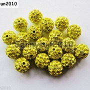 10Pcs-Czech-Crystal-Rhinestones-Pave-Clay-Half-Drilled-Disco-Round-Ball-Beads-371017953193-0474