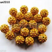 10Pcs-Czech-Crystal-Rhinestones-Pave-Clay-Half-Drilled-Disco-Round-Ball-Beads-371017953193-0589