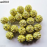 10Pcs-Czech-Crystal-Rhinestones-Pave-Clay-Half-Drilled-Disco-Round-Ball-Beads-371017953193-091a