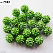 10Pcs-Czech-Crystal-Rhinestones-Pave-Clay-Half-Drilled-Disco-Round-Ball-Beads-371017953193-56f8