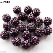 10Pcs-Czech-Crystal-Rhinestones-Pave-Clay-Half-Drilled-Disco-Round-Ball-Beads-371017953193-66bb