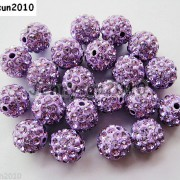 10Pcs-Czech-Crystal-Rhinestones-Pave-Clay-Half-Drilled-Disco-Round-Ball-Beads-371017953193-98be