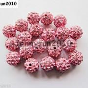 10Pcs-Czech-Crystal-Rhinestones-Pave-Clay-Half-Drilled-Disco-Round-Ball-Beads-371017953193-9b1d