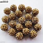 10Pcs-Czech-Crystal-Rhinestones-Pave-Clay-Half-Drilled-Disco-Round-Ball-Beads-371017953193-a851