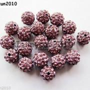 10Pcs-Czech-Crystal-Rhinestones-Pave-Clay-Half-Drilled-Disco-Round-Ball-Beads-371017953193-b57b