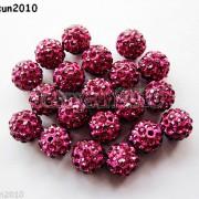 10Pcs-Czech-Crystal-Rhinestones-Pave-Clay-Half-Drilled-Disco-Round-Ball-Beads-371017953193-c27b