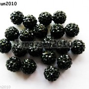 10Pcs-Czech-Crystal-Rhinestones-Pave-Clay-Half-Drilled-Disco-Round-Ball-Beads-371017953193-dd7b