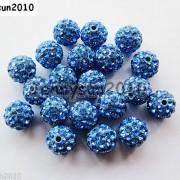 10Pcs-Czech-Crystal-Rhinestones-Pave-Clay-Half-Drilled-Disco-Round-Ball-Beads-371017953193-e208