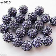 10Pcs-Czech-Crystal-Rhinestones-Pave-Clay-Half-Drilled-Disco-Round-Ball-Beads-371017953193-e304