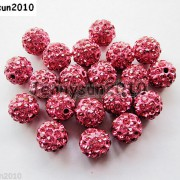 10Pcs-Czech-Crystal-Rhinestones-Pave-Clay-Half-Drilled-Disco-Round-Ball-Beads-371017953193-f2f8
